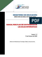Plan de Contingencias Aulas (Ministerio Educacion