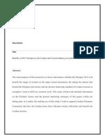 Olympics Dissertation