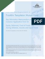 Franklin India TaxShield Application Form