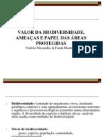 Valor Da Biodiv Ameacas e Valor de APs