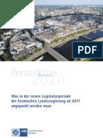 Perspektive Bremen 2020 - Handlungsfelder für die bremische Landesregierung