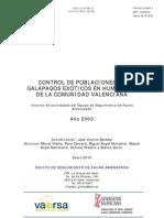 Control galápagos exóticos en la Comunidad Valenciana (2009)