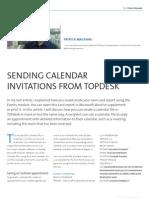 Sending Calendar Invitations From TOPdesk