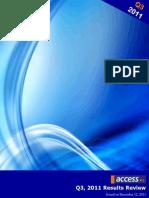 Proshare Analyst Snapshot on Access Bank Plc Q3 2011