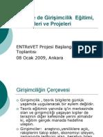 Trkiye de Giriimcilik Projeleri Ve Eitimi