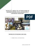 Emys Orbicular Is en La Comunidad Valenciana (2003-2005)