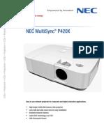 08 NEC Datasheet P420X En