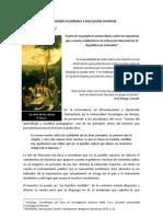 Autonomia Academica y Educacion Superior