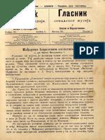 Glasnik Zemaljskog Muzeja 1889./god.1 knj.3