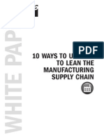 10 Ways to Use Erp to Lean the Manufacturing Supply Chain White Paper