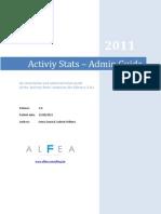 Activiy Stats Admin Guide