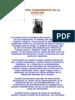 Thich Nhat Hanh - LOS CUATRO FUNDAMENTOS DE LA ATENCIÓN