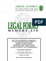 Legal Forms Memory Aid