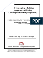 Cloud Computing - Challenges From Indian Perspective - Project Proposal