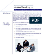 MR Valuation Consulting 2009 Brochure