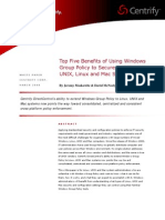 Centrify Top Five Benefits of Group Policy