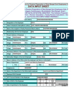Single Comprehensive Form Automated) of Pension for w.b.govt Employees