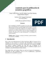 Publicacion de Datos Geograficos
