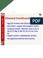 Chem Comp n Nut Value of Egg