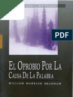 SPN62-1223 El Oprobio Por La Causa de La Palabra VGR