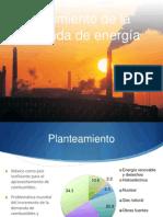 Crecimiento en la demanda de energía