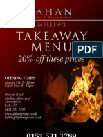 Indian Takeaway Menu Melling