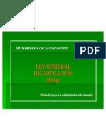 Ley General de Educacion - 28044