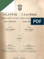 Glasnik Zemaljskog Muzeja 1893./god.5 knj.2