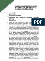 Los procesos especiales de terminación anticipada y el proceso inmediato en el nuevo código procesal penal