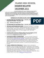 School Counseling Bulletin December 2011
