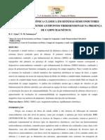 DINÂMICA ELETRÔNICA CLÁSSICA EM SISTEMAS SEMICONDUTORES CORRUGADOS CONTENDO