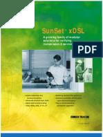 Sunrise Telecom Sunset xDSL Test Set Data Sheet