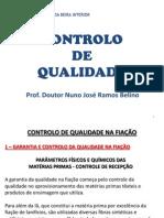 CONTROLO DE QUALIDADE NAS SECÇOES