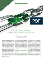 Sobre hegemonía y renovación en Santa Cruz (Pablo Javier Deheza)