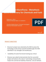 Elevance Pilot Bio Refinery