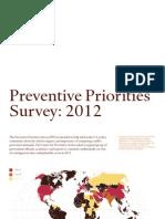 CPA Preventive Priorities Survey 2012