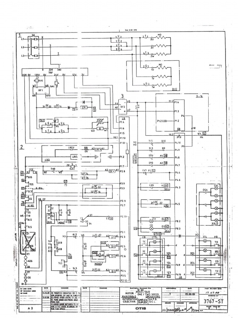 OTIS NE-300 (Diagramas 3767-ST de Maniobras Automatic As)