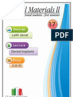 Lecture 17, Dental Implants (Script)
