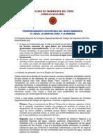 75671050 to Colegio de Ingenieros Del Peru Consejo Nacional Caso Minas Conga