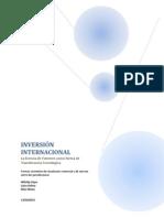 INVERSIÓN INTERNACIONAL La Licencia de Patente