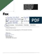 Urgent Fax to Senator Jack Reed