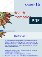 Kozier - Chapter 16 -  Health Promotion