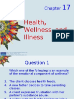 Kozier - Chapter 17- Health Wellness Well Being