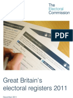 Great Britain's Electoral Registers 2011