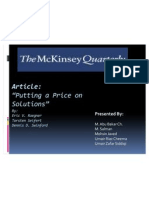 Putting a Price on Solutions Mckinsey