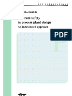 Inherent Safety in Process Plan Desing