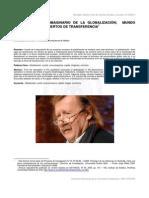 SLOTERDIJK Y EL IMAGINARIO DE LA GLOBALIZACIÓN; MUNDO SINCRÓNICO Y CONCIERTOS DE TRANSFERENCIA Por ADOLFO VÁSQUEZ ROCCA PH.D. UCM