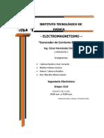 Reporte Del Generador Electrico