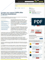 Groups Still Oppose SOPA After Proposed Amendment - PC World (feat. Rob Holmes)