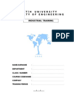 Industrial Training Report Template4zylQWfq